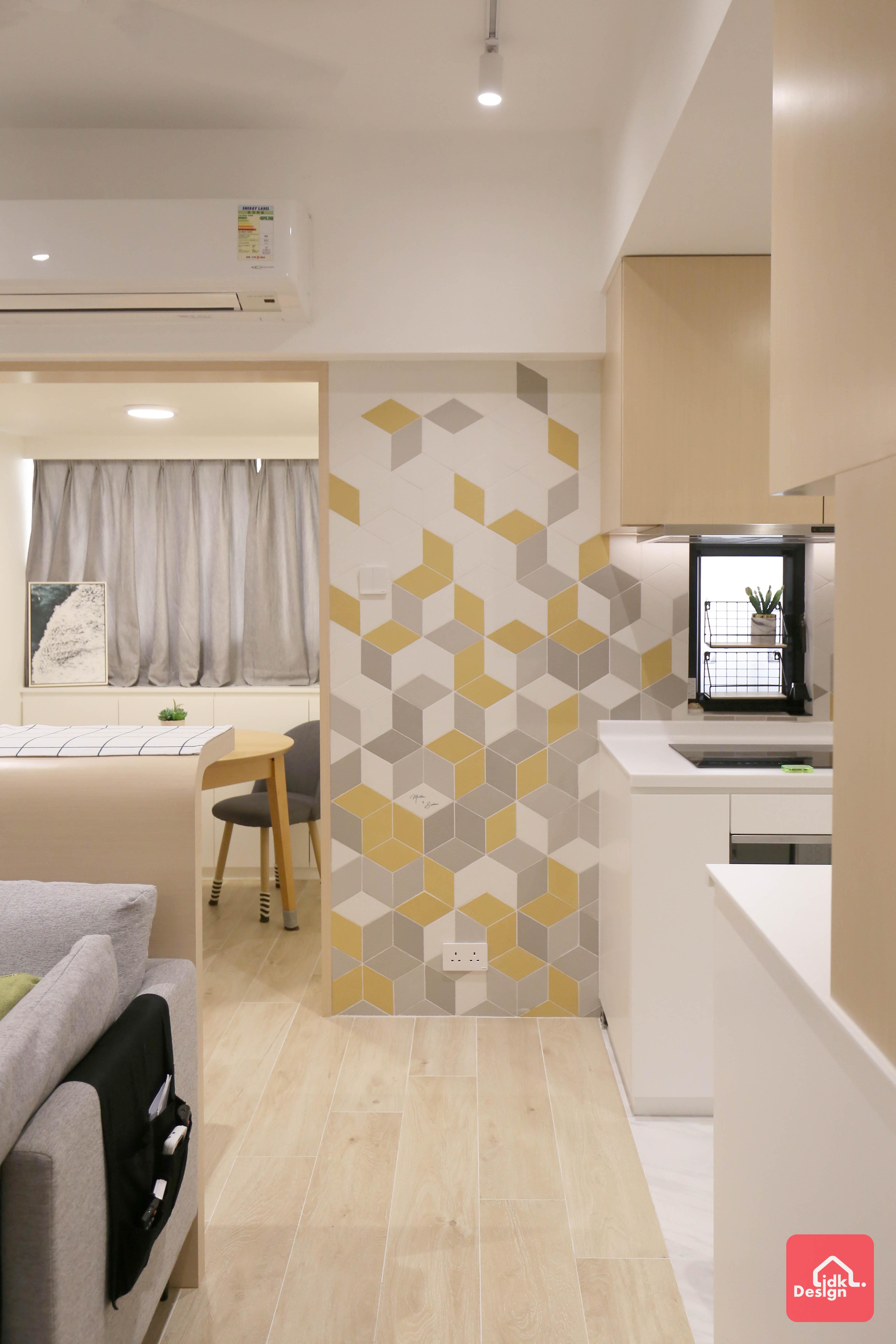 幾何特色牆