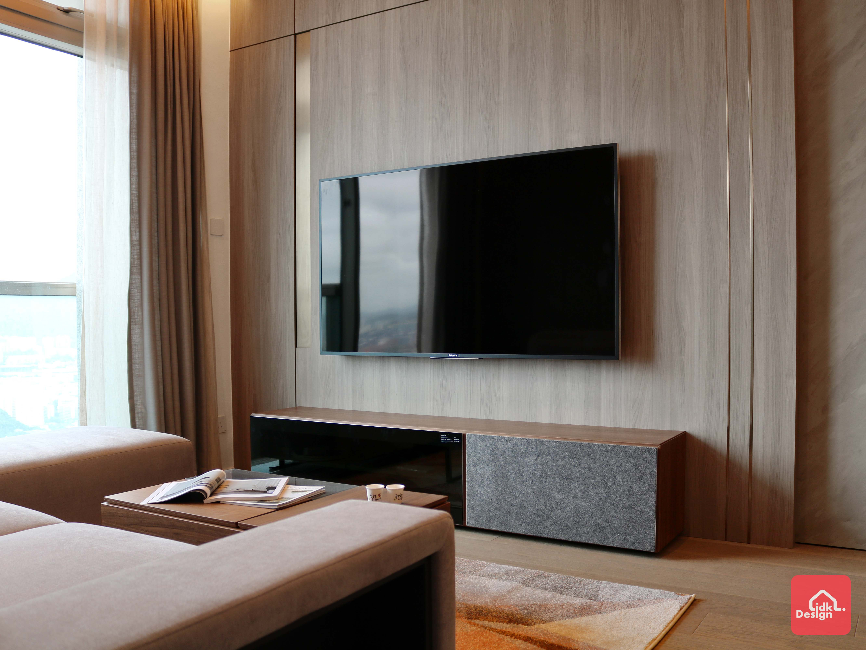 木飾面電視牆