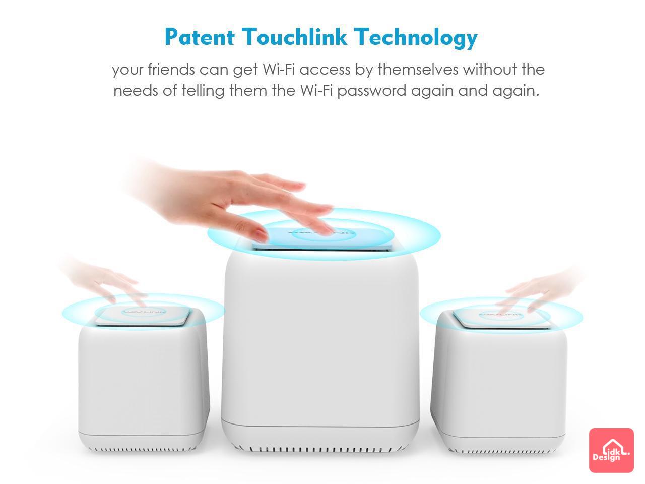 WAVLINK 獨家研發TouchLink專利技術「一拍即連」
