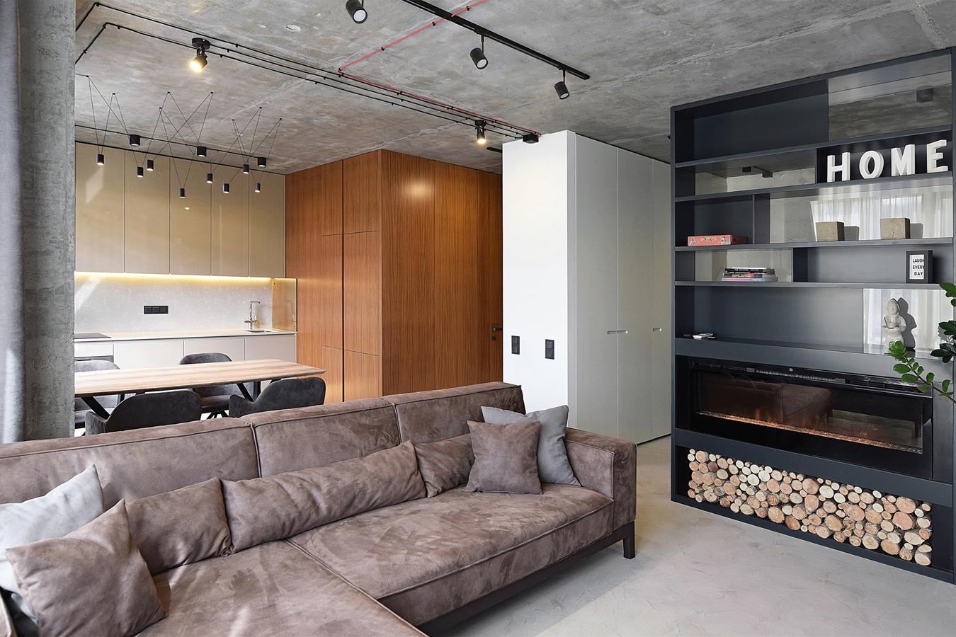 面積小卻規十分實用的案例 - 基輔公寓