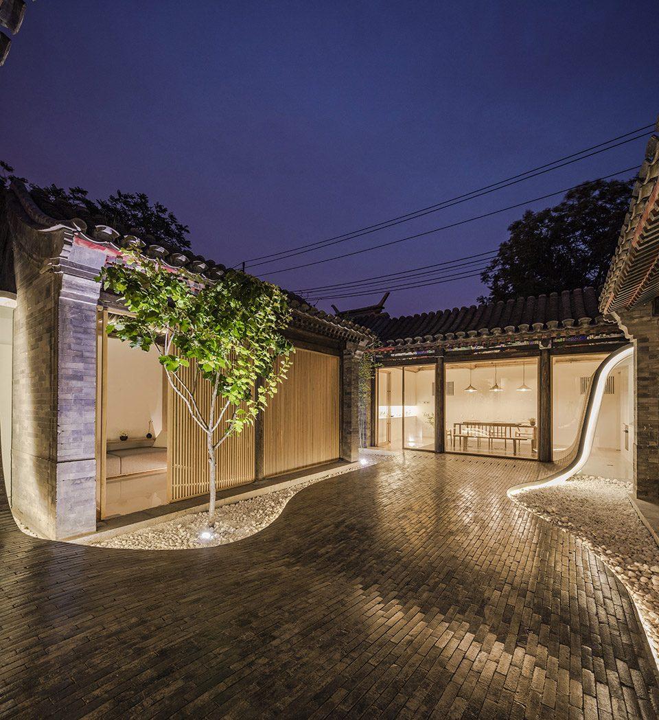 將傳統的建築重新轉變為現代化 - 扭曲的四合院