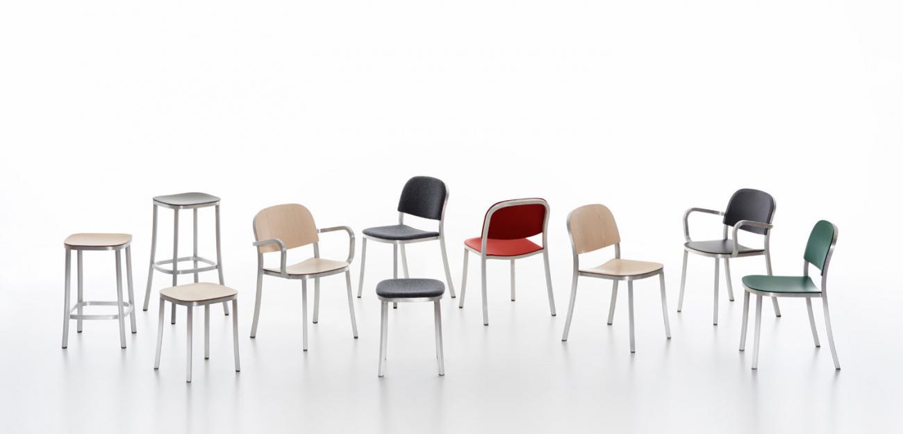 「環保、耐用、輕巧」美國Emeco最新推出The 1 Inch Collection