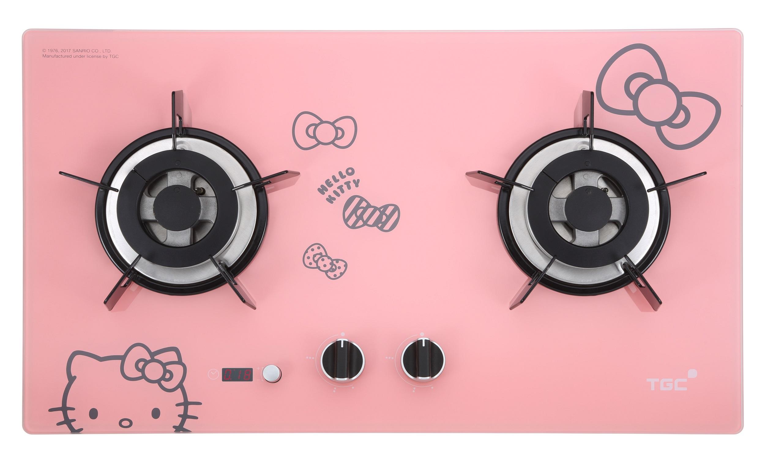 煤氣TGC X HELLO KITTY 推出萌爆嵌入式平面爐及造型廚具